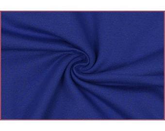 15 * 152 cm royal blue cotton jersey fabric coupon
