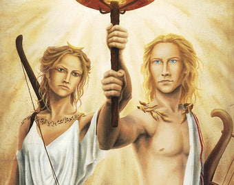 """""""Artemis and Apollo"""" large Poster"""