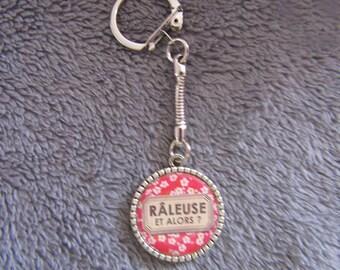 """LIQUIDATION keychain silver color """"râleuse et alors?"""""""