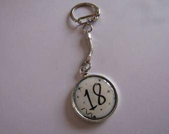 SALE 18 silver keychain