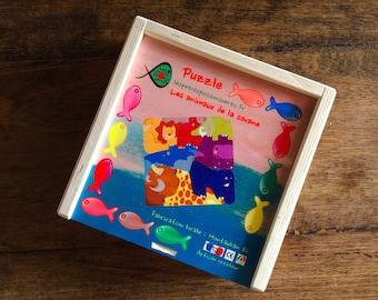 puzzle wood savanna animals