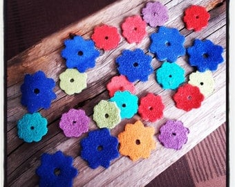 set of 23 cuts of leather flowers