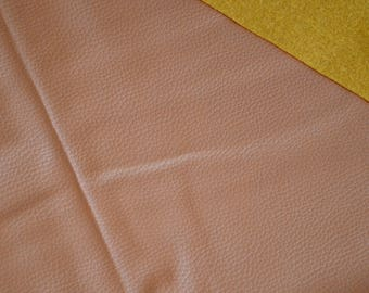 Fabric faux leather CAMEL / Brown 45 * 50cms