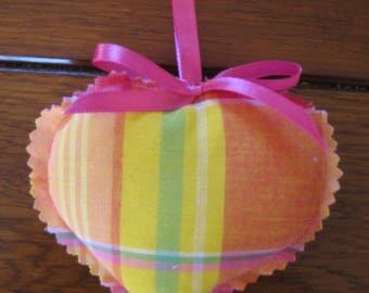 Free shipping! pink heart hanging madras
