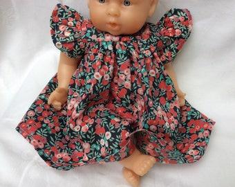 Liberty Wiltshire red dress for 30 cm dolls