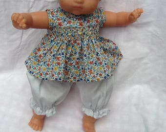 Clothing doll Blouse has smocked Liberty Helena's Doll 36 cm