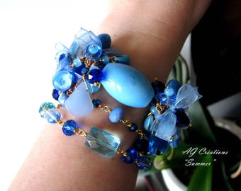 BRACELETS / NECKLACE CHARMS WIRE WRAPPED 'SUMMER'