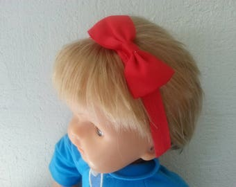 This headband from birth to 3 years red