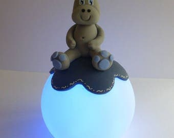 child's Nightlight changing colors, cold porcelain figurine
