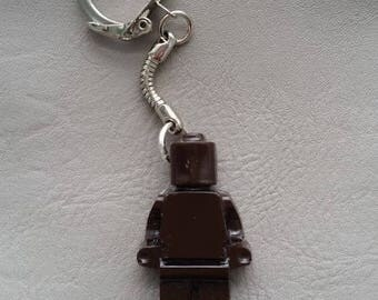 Key shaped toy snowman resin Brown