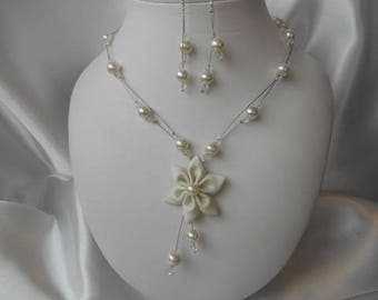 """Wedding 2 piece """"David"""" with necklace & Earrings set"""