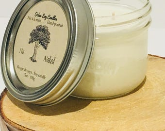 Unscented, Unscented Soy Candles, Natural Soy Candle, Ocean Candle, Holiday Gift, 7oz jar, Candle Gift, Scented Soy Candle