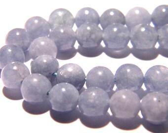 10 pearls aigue marine 6 mm - round - gemstone gemstone PG281