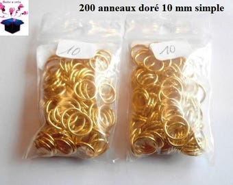 simple gold 200 rings size 10 mm.