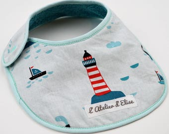 Small bib 0-3 months sailor Timéo collection