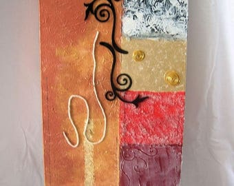 Gold embossed abstract painting abstract