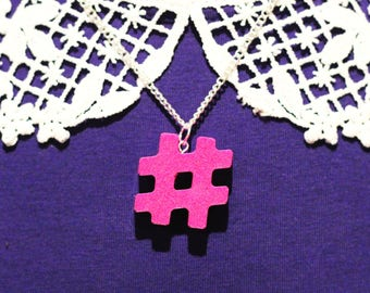 Hashtag Necklace - on trend jewelry stocking filler social media instagram facebook twitter gifts for teens teenager gifts for her trending