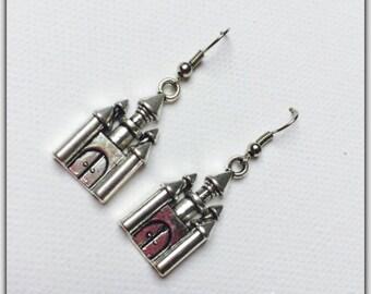 Halloween Haunted Castle charm earrings