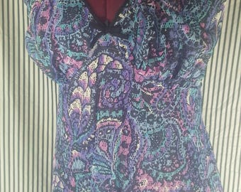 St. Michael Purple Paisley Nightgown