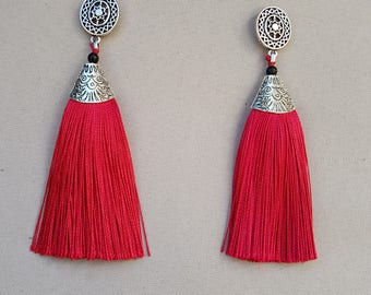 tassel and Silver earrings