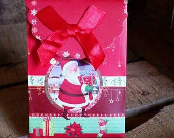 1 SANTA CLAUS CARDBOARD GIFT BOX
