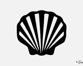Coquille de mer etsy - Coquille saint jacques dessin ...