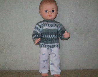clothes for dolls 40 cm, pants and sweater, compatible Michel fashions and work