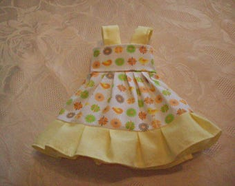 cotton print dress, for 32 33 cm dolls, compatible with the corolla darlings