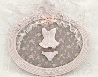 "Frame antique pink powder ""lingerie"""