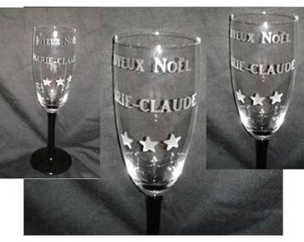 Champagne glass personalized with your name