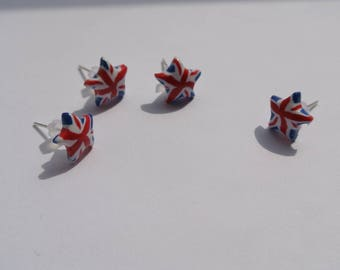 Earrings chip star made in England