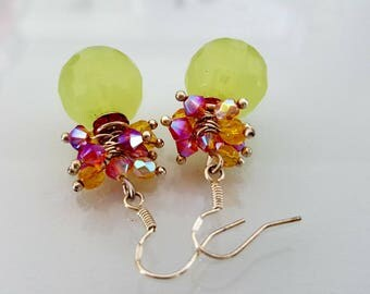 free shipping * earrings * unique * pastel Designer