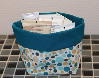 Basket of bath - reversible - bubbles pattern