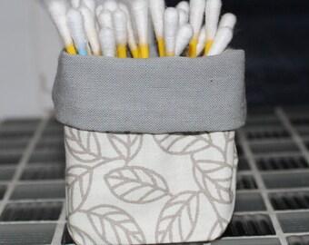 Basket for q-tips - reversible - pattern sheet