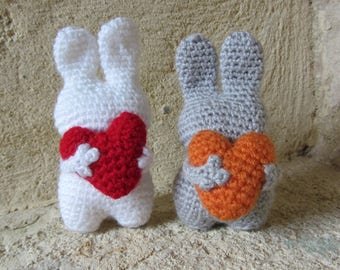 Pair of crocheted Bunny