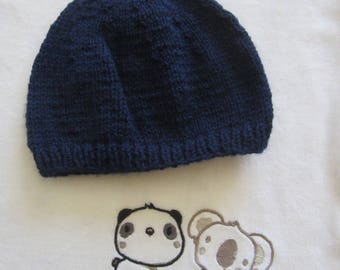 """Birth"" Navy Blue Hat"
