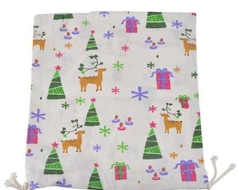 1 sachet bag fabric cotton tree Christmas Pr candy Christmas gift 31x25cm within 15 days