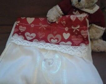 Heart fabric Panel