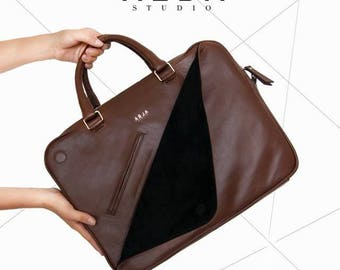 Zurich Leather Briefcase