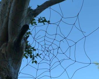 Black wire Spider Web