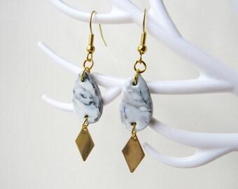 boucles d 39 oreilles perroquet origami en plaqu or p te. Black Bedroom Furniture Sets. Home Design Ideas