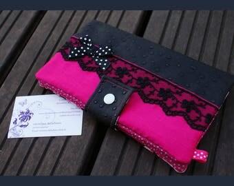 """portfolio """"the vie en rose"""" faux ostrich leather"""