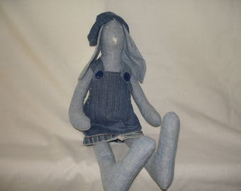 a Lady Bunny and her denim dress