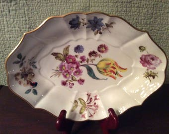 Vintage Lenox Porcelain Meissen Stand Smithsonian Reproduction Bowl