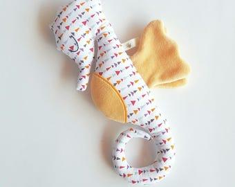 Handmade Plushie Hippolyne seahorse geometric patterns