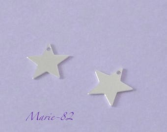 1 Star / Mini charm 10 mm - sterling silver