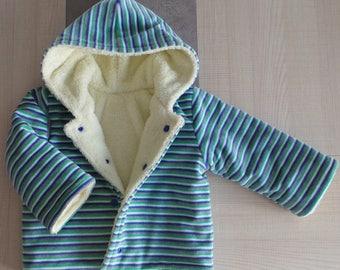 Velvet Nicky and Teddy reversible coat 18 months