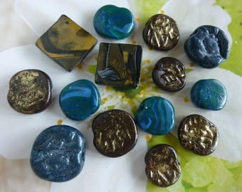SET OF 14 SMALL PARTS FOR CREATIONS POLYMER CLAY