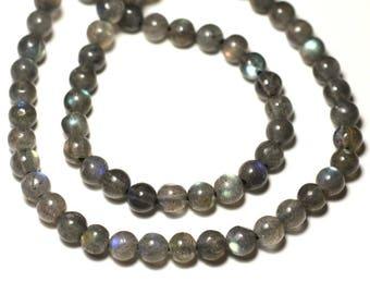 10pc - stone beads - Labradorite 6mm - 8741140022690 balls