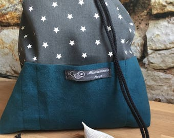 Drawstring project bag, medium size, 2-3 skeins.